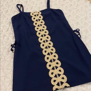 Lilly Pulitzer Navy and Gold Skort Dress